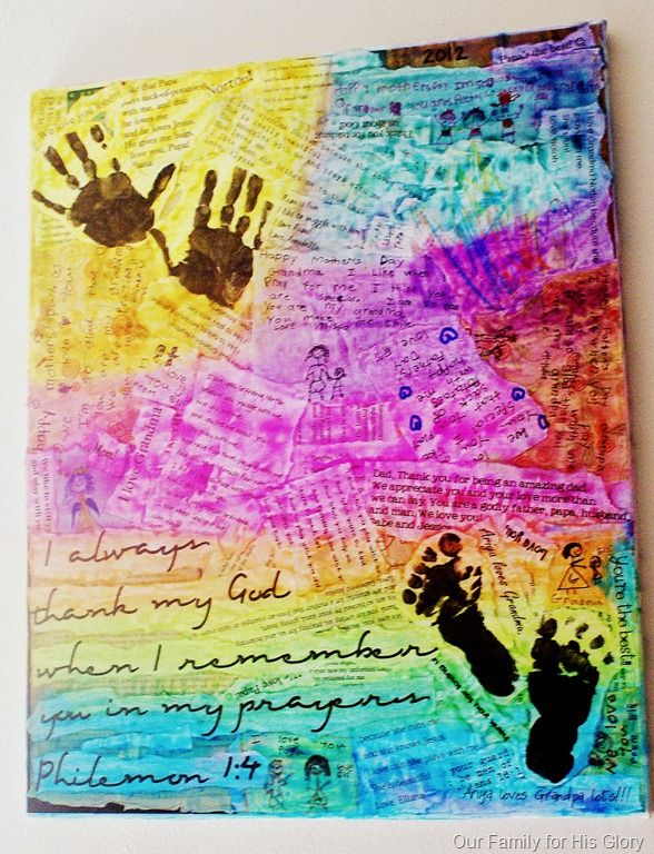 Family Faith art collage this is pretty, wanna do this