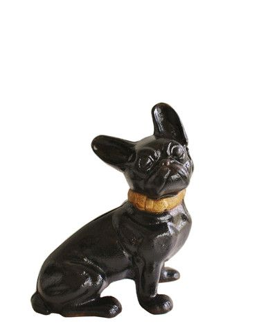 Vintage Hubley Boston Terrier Puppy Coin Bank