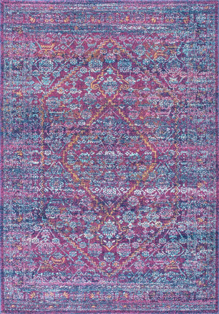Preppy And Very Purple! This Is Rugs USAu0027s Bosphorus BD33 Bridget Diamond  Medallion ...