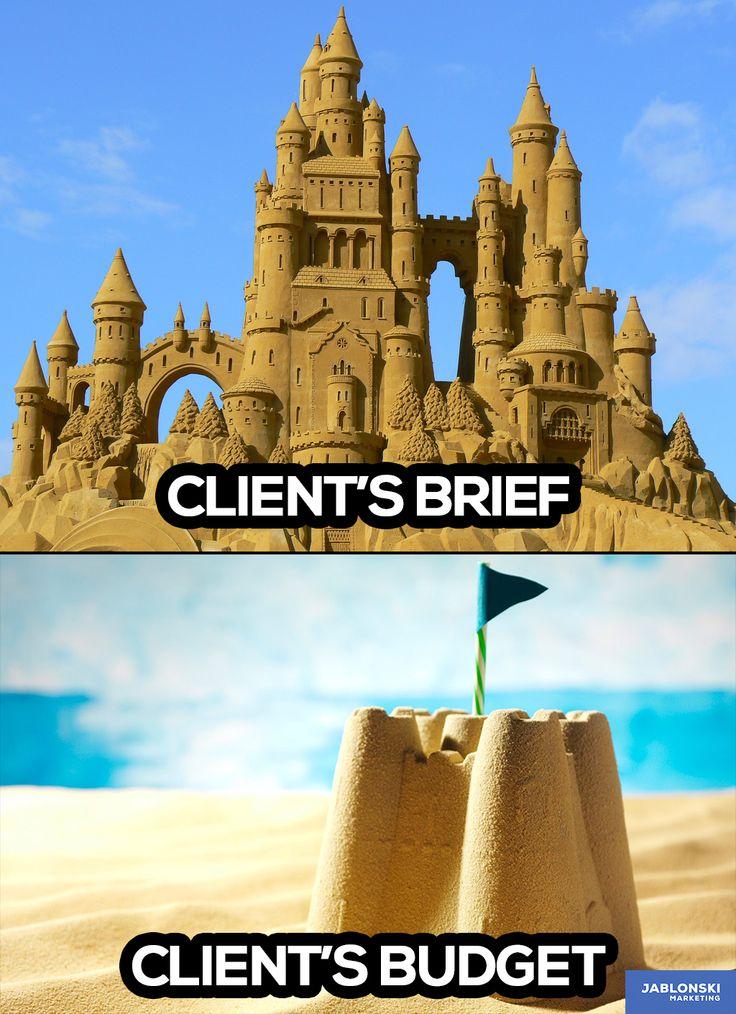 Client's brief, client's budget. #meme #workmeme # ...