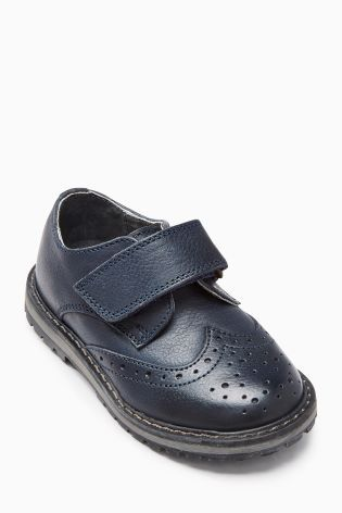 Navy Leather Brogues (Younger Boys)