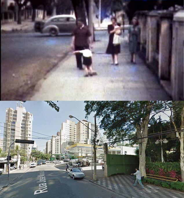 Rua José Maria Lisboa, perto da esquina com a avenida Nove de Julho, em 1944 e hoje #SaoPaulo #Brasil #oldbutgold