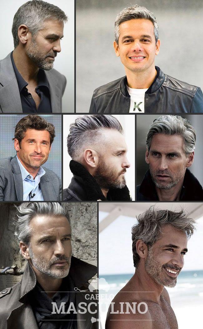 cabelo grisalho masculino
