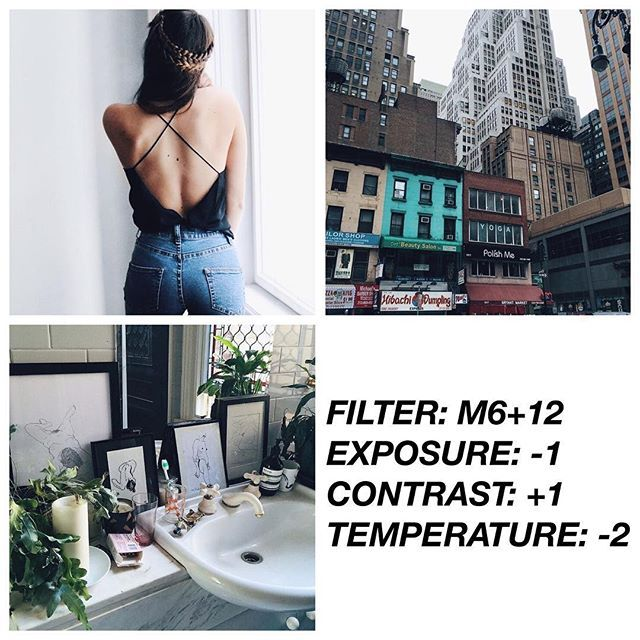 VSCO Cam Filter Settings for Instagram Photos | Filter M6 Dark Clean Effect