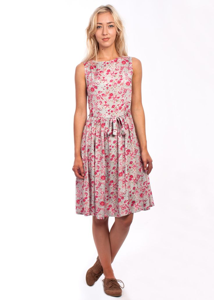 The Brigitte dress from Circus #fit #flare #1950s #style #vintage #floral #dress #pink