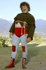 How to dress up as Nacho Libre - esp. this look that combines a robe with the lucha libre costume! :P