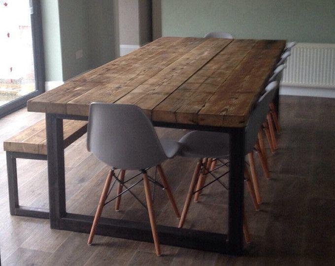 10 12 Posti Da Pranzo Tavolo Bar Cafe Ristorante Arredi In Etsy Esszimmer Gestalten Grosser Esstisch Restaurierte Holzmobel