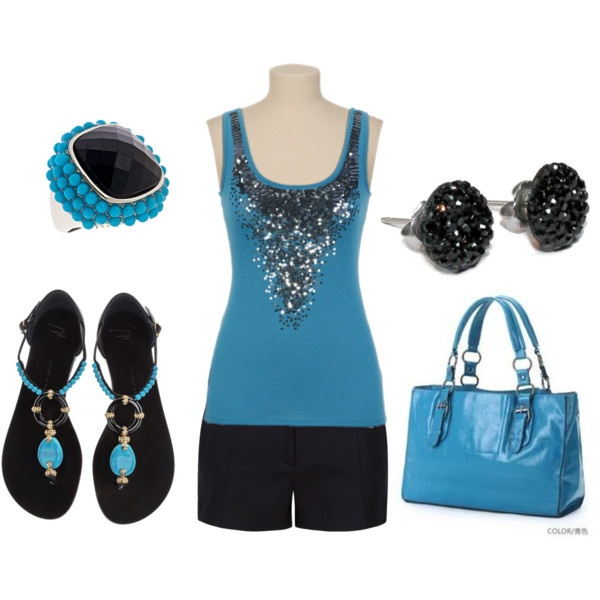 Black and turquoise: Dreams Closet, Summer Style, Color Together, Closet Freak, Classic Style, Gifts Christmas, Summertime 3, Beautiful Fashion, Fashionvogu Style