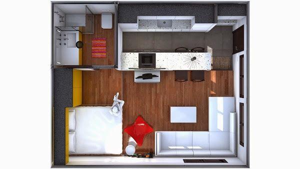 minipiso 30m2 (con fantasma enganchado al wassap) | Decorar tu casa es facilisimo.com