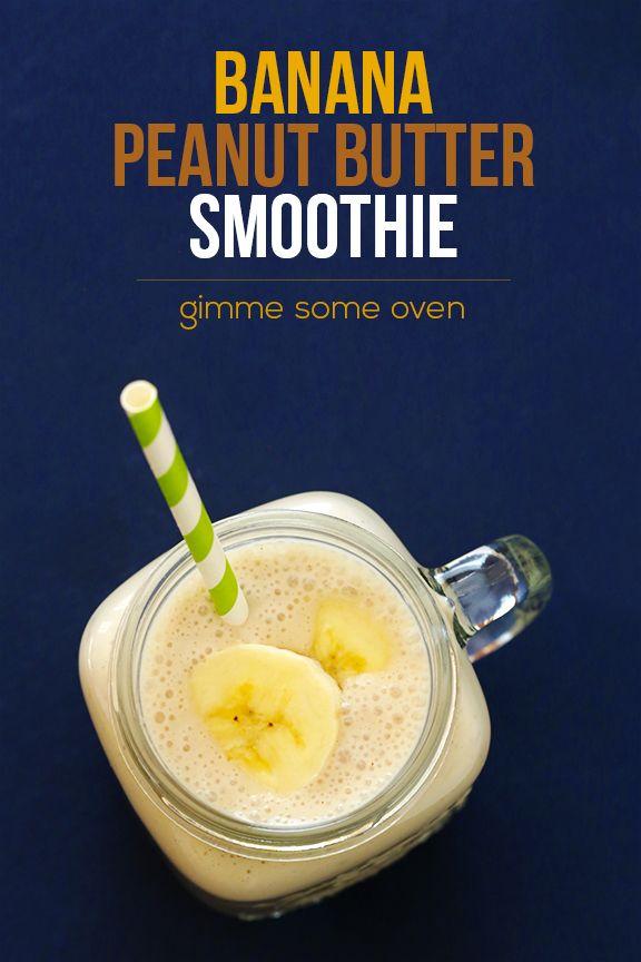 Peanut Butter Banana Smoothie Recipe | gimmesomeoven.com