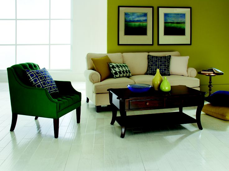 HGTV HOME Furniture Sutherland Sofa Shown With Emerald Churchill Chair