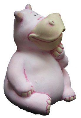 Alcancias hipopotamo de cerámica pintada a mano. medidas:24x20cm www.barenka.com