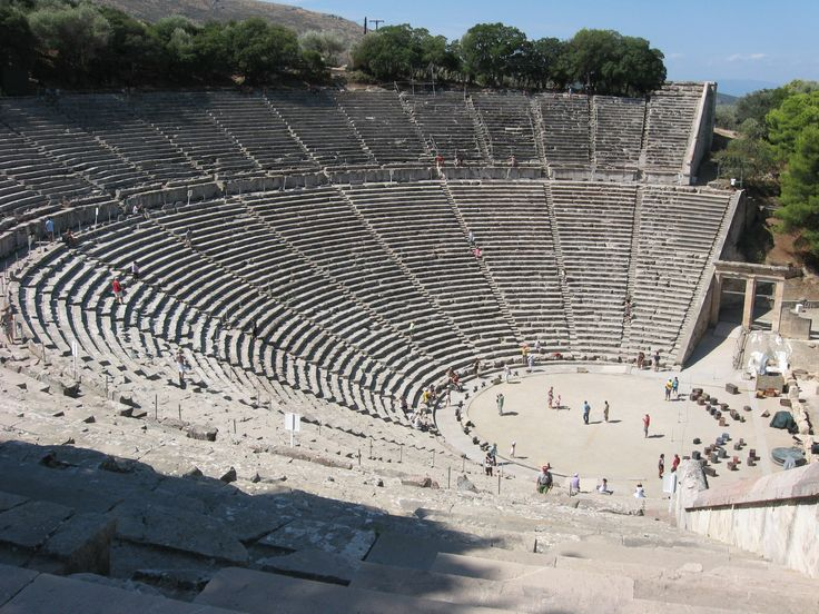 Epidavros. The theater. It was designed by Polykleitos the Younger in the 4th century BC.