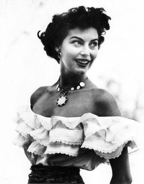 Ava Gardner as 'The Barefoot Contessa', 1954.