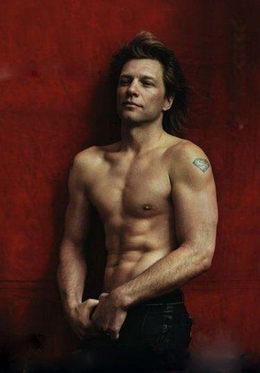 Jon Bon Jovi (the walls red, & he sure is beautiful)