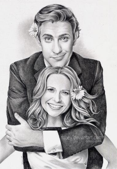 John Krasinski and Jenna Fisher