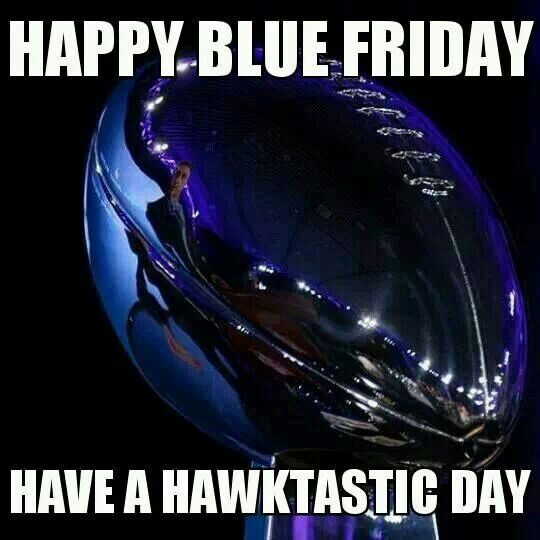 ♡ Happy Blue Friday!! Have a Hawktastic Day!