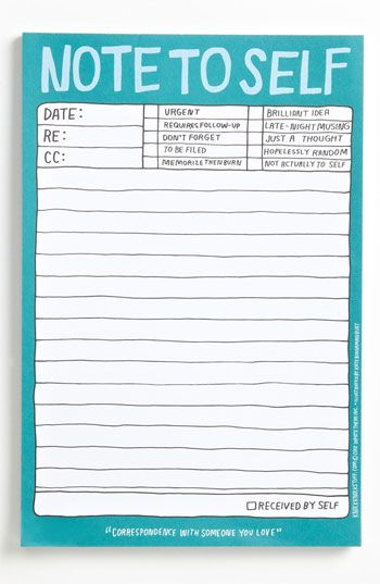 Knock Knock 'Note to Self' Note Pad available at #Nordstrom