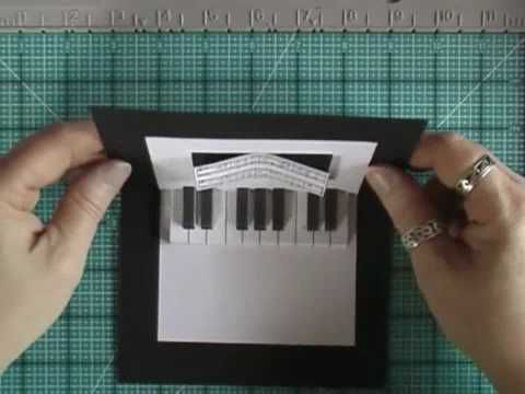 Pop-Up Card with Piano Keyboard - YouTube