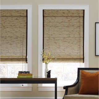 Tortoise Natural Cordless Bamboo Roman Shade - 18351291 - Overstock.com Shopping - Great Deals on UHF Blinds & Shades