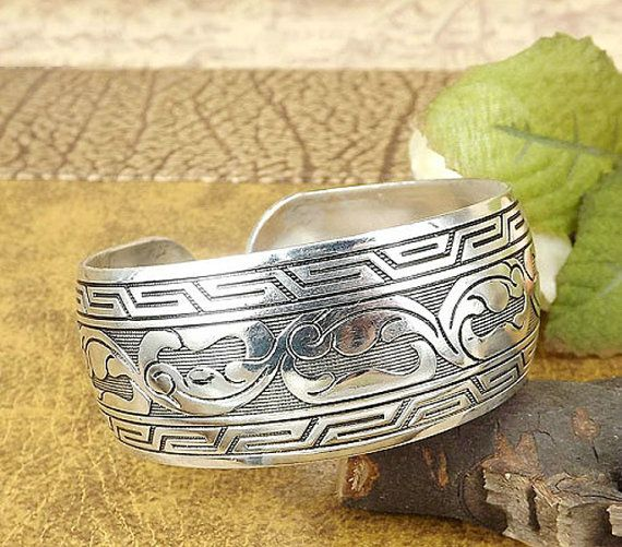 Nepal jewelry silver cuff bracelets for by TheTibetNepalAvenue