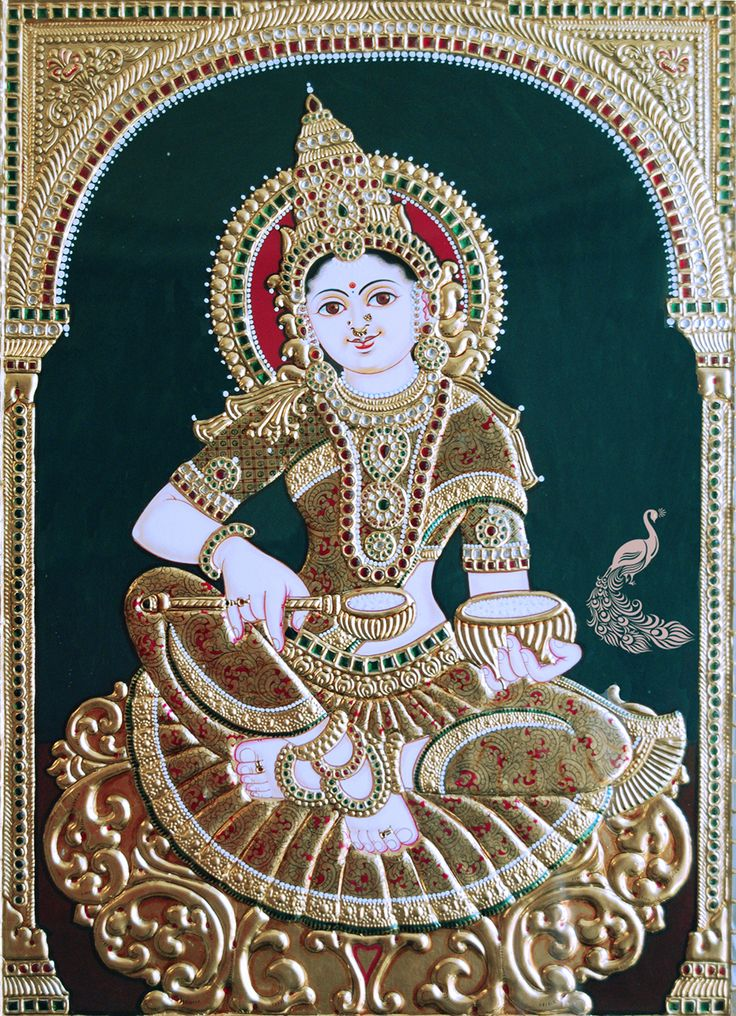 Annapurna Tanjore Painting for Sale Painting is an exquisite traditional art form and has a very rich heritage. This classical painting style of South India originated from the town of Thanjavur (anglicised as Tanjore). This art form flourished way back about 1600AD by the Nayakas of Thanjavur under the reign of Vijayanagar Rayas. See more at http://www.madhurya.com/tanjore-paintings/annapurna.html ‪#‎tanjorepaintingsonline‬ ‪#‎tanjorepaintings‬ ‪#‎annapurnapainting‬