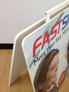 PVC Sandwich Board Closeup produced by FASTSIGNS Vancouver www.fastsigns.com/653