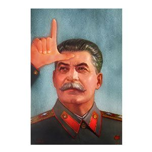 Stalin Loser 90x60 cm by Bisha Design
