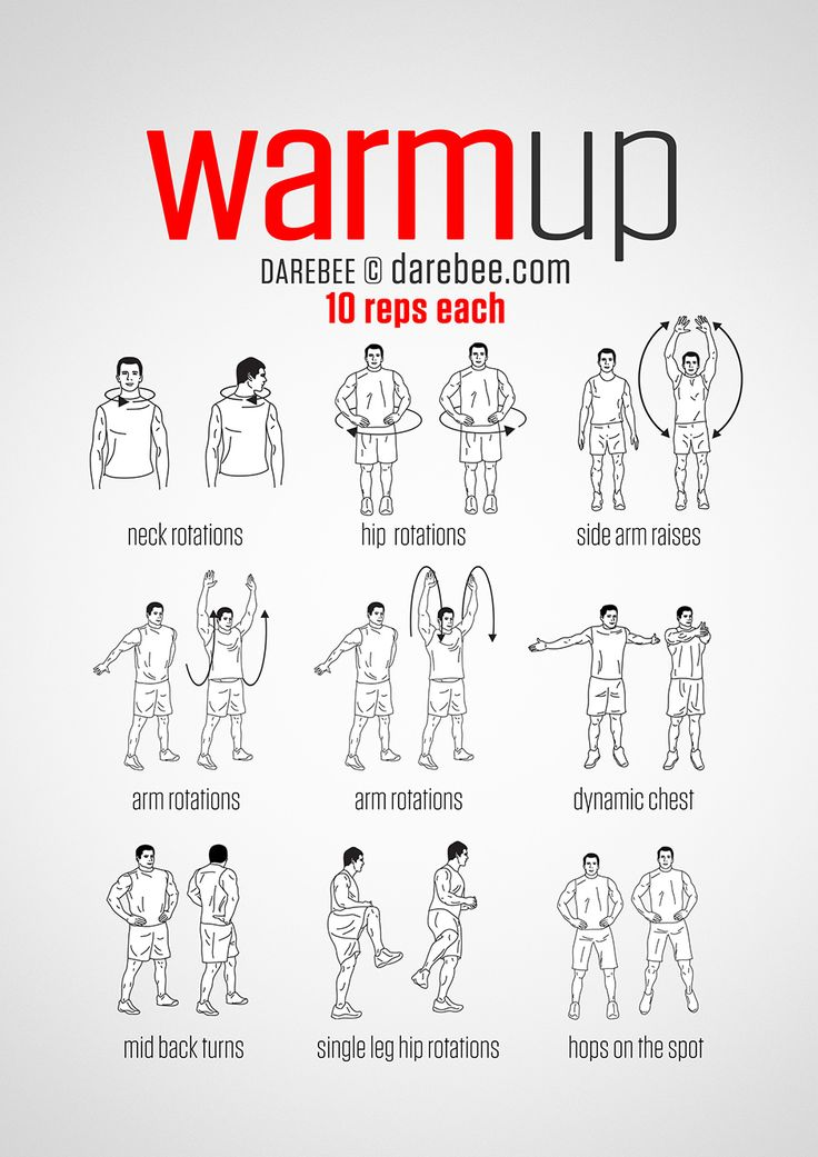 Pre-Workout Warm-Up (always warmup before your workout and then stretch after)