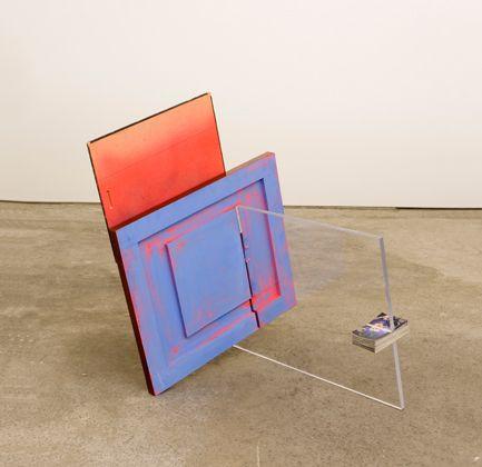 Sarah Braman : Late June, 2008, Table top, found photo on wood, plexiglass, photographs, acrylic, 44 x 44 x 36 in