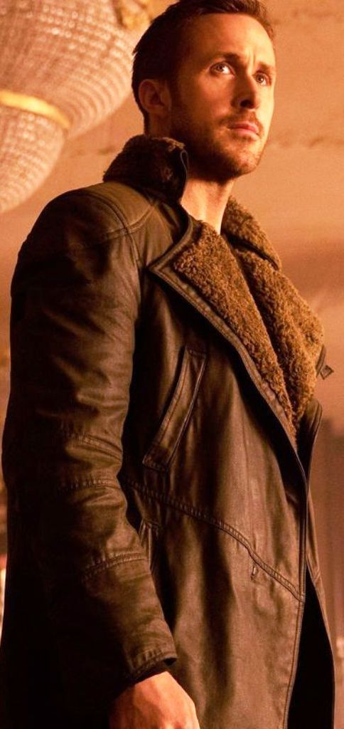 fad9b26e31 Inspired From Hollywood Famous American Actor Ryan Gosling. Smart Seller  Present s Ryan Gosling Blade Runner 2049 Fur Trench Leather Coat for Men.