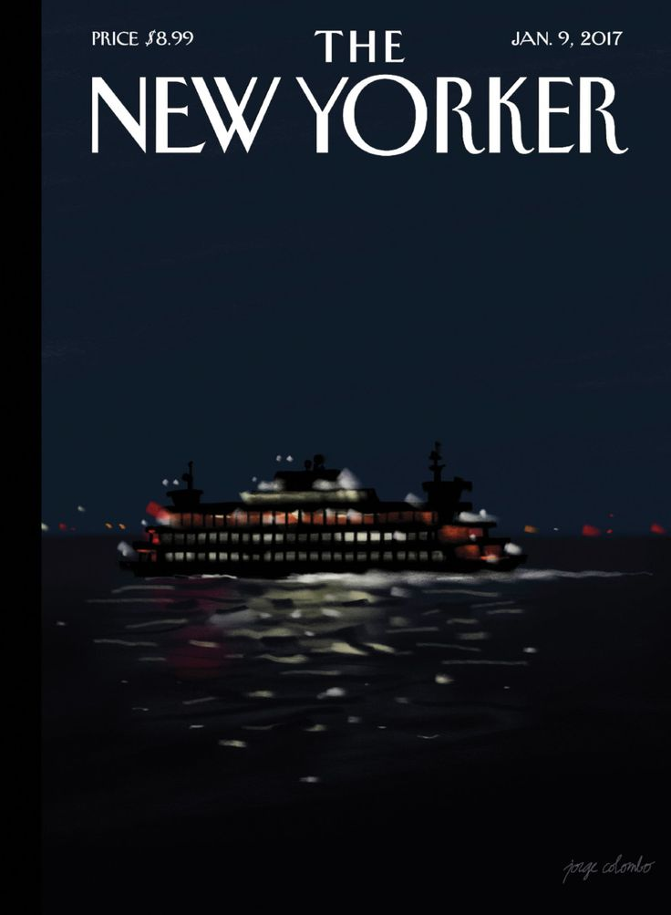 "The New Yorker - Monday, January 9, 2017 - Issue # 4670 - Vol. 92 - N° 44 - Cover ""Waterways"" by Jorge Colombo"