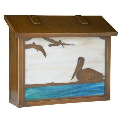 Americas Finest Lighting Pelican Large Mailbox Gold Iridescent - AF-1733-OP-GI