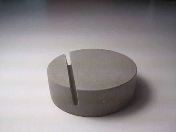 Kreteware Concrete place marker table card holder by kreteware