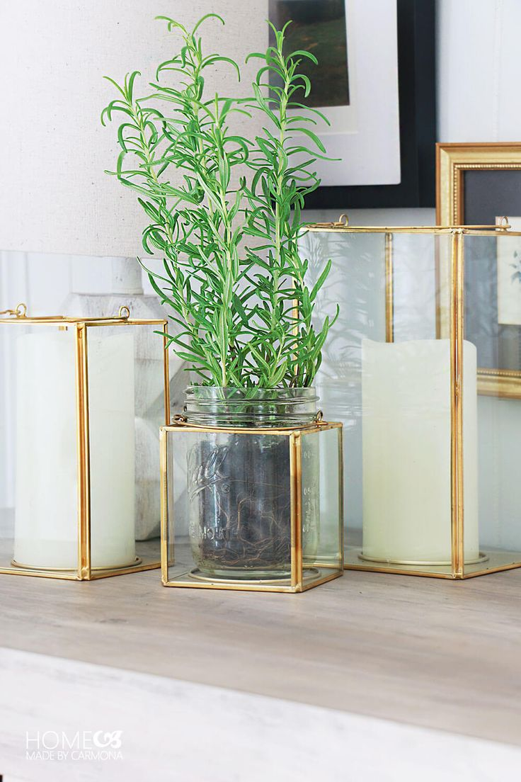 Better Homes & Gardens gold lantern   Beautiful console styling!   Home Made by Carmona   #ad #BHGLiveBetter