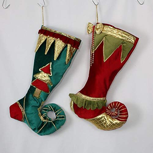 Elf Christmas Stockings, Velvet Christmas Stocking,Elf