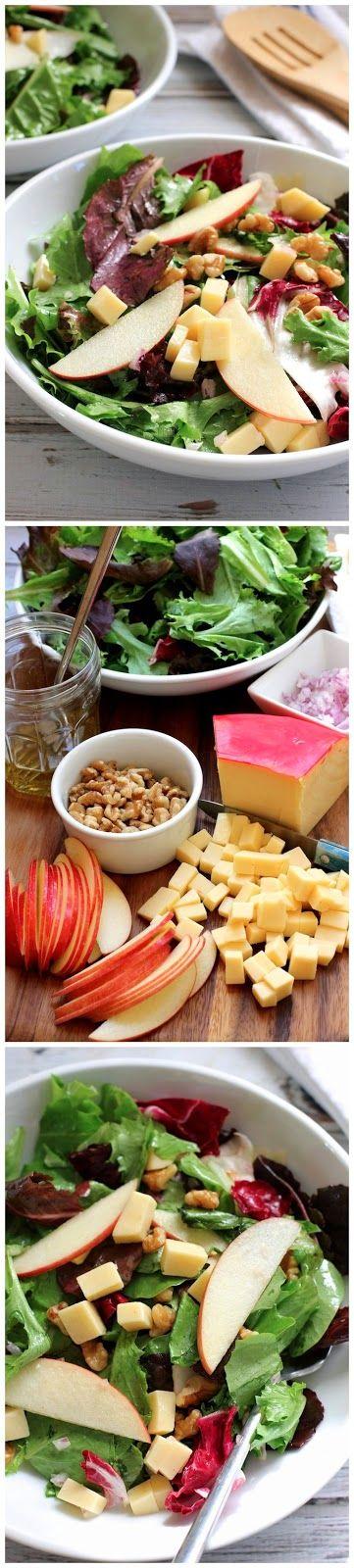 Apple Gouda Walnut Salad