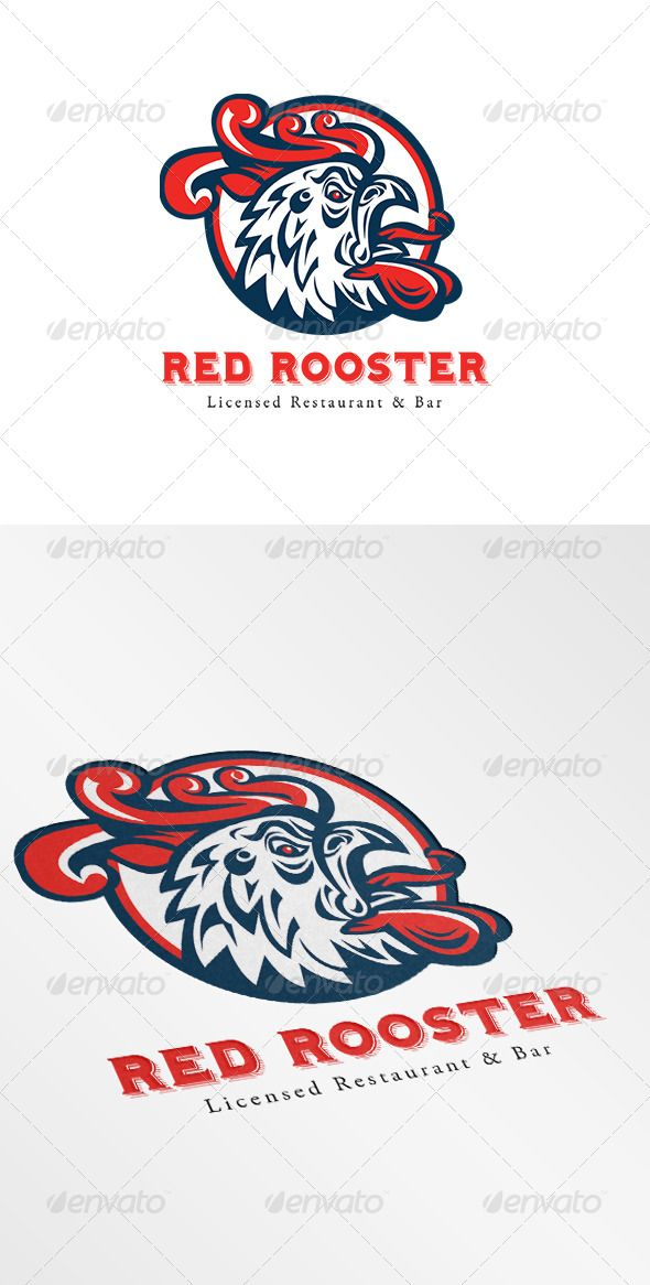 Rooster Restaurant and Bar Logo — Vector EPS #gamecock #chicken • Available here → https://graphicriver.net/item/rooster-restaurant-and-bar-logo/6906977?ref=pxcr