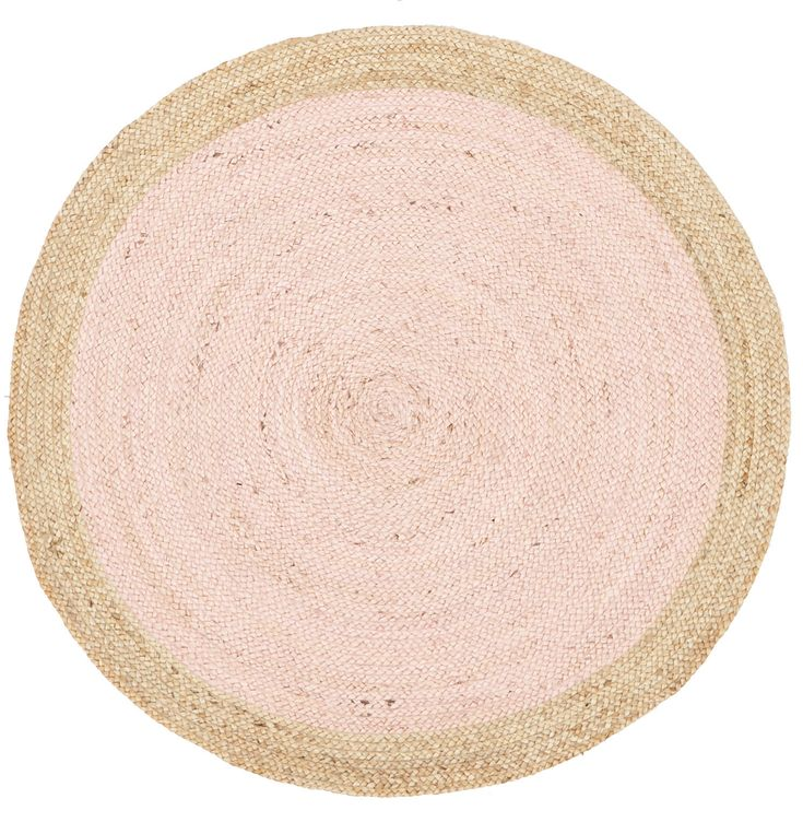 Network Jute Natural Pink Rug & Reviews   Temple & Webster