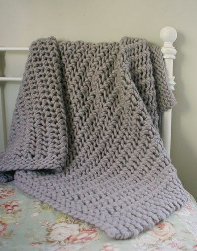 Chunky Blanket Knitting Pattern : Free Knitting Pattern - Afghans & Blankets: Lacy Chunky Throw Im k...