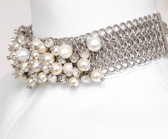 d0b132c861868b Chanel White Silver Pearl Crystal Choker Collar Hw Chain 2017 Bnwt Necklace  - Tradesy