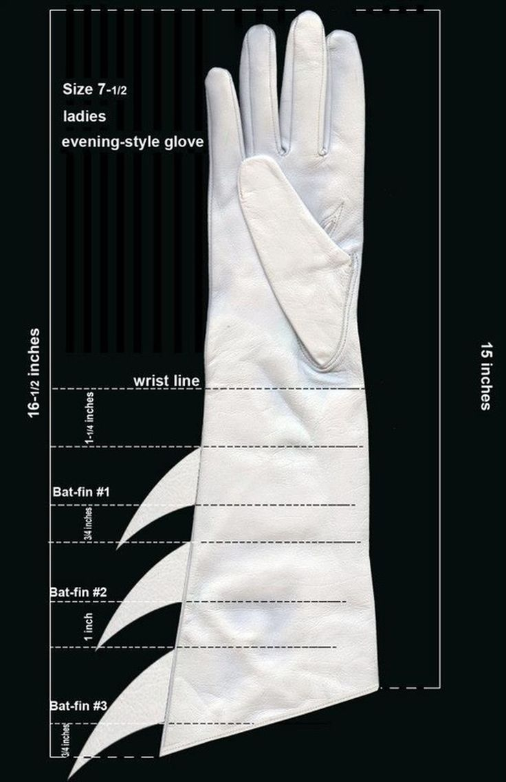 Batgirl glove pattern