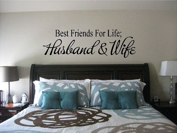 Best Friends For Life Husband and Wife   Wall Quote Saying   Removable  Vinyl Decal Sticker. Best 25  Bedroom wall quotes ideas on Pinterest   Girl room quotes