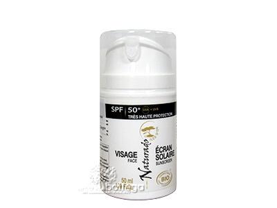 13,50 euro   Crema Solare biologica SPF50+ Viso e Corpo Naturado. Per pelli chiarissime e per bambini.