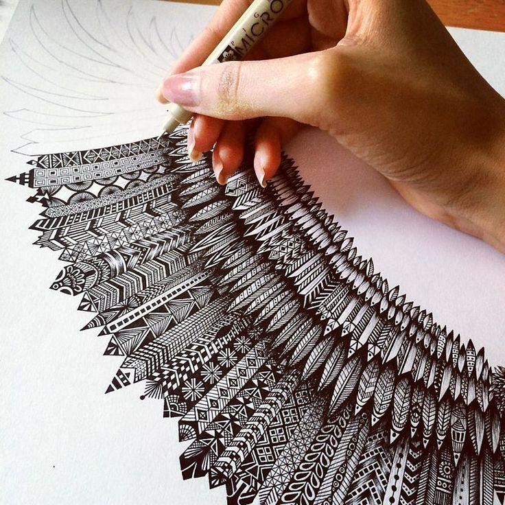 A arte extremamente detalhada de Pavneet Sembhi - Em um estilo que se assemelha muito ao zentangle, Pavneet Sembhi cria incríveis e detalhadas ilustrações.