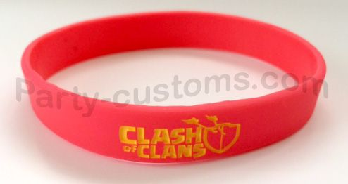 """Clash of Clans Silicone bracelet """"Red"""" 