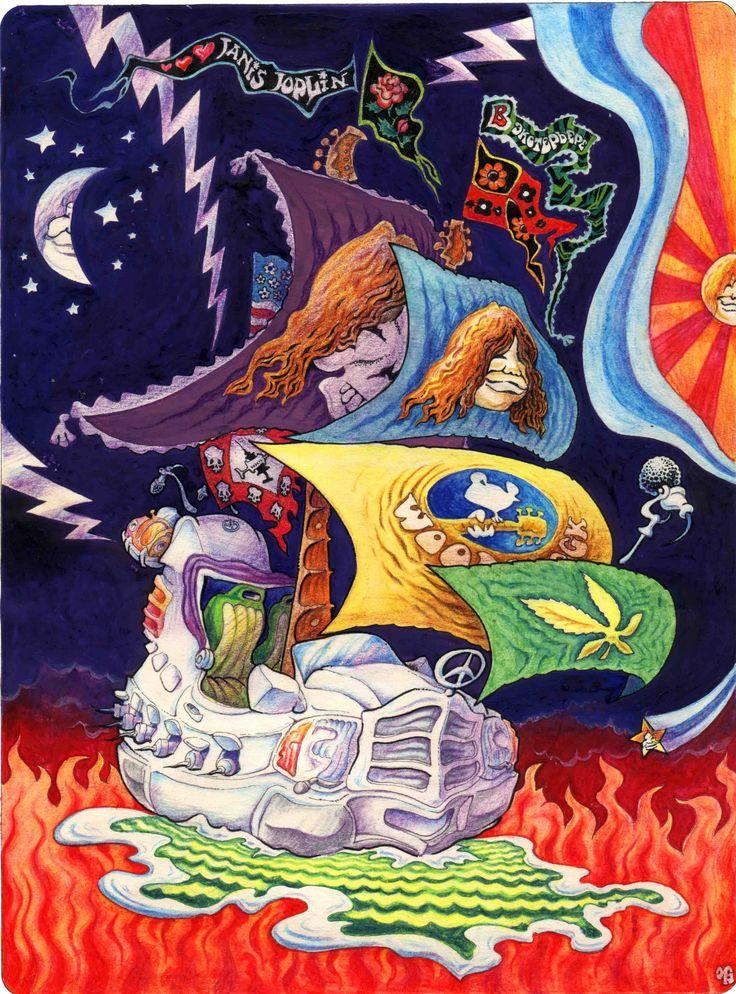 """Дженис ДЖОПЛИН (Janis Joplin) - некоронованная """"королева"""" всех хиппов всех народов (о Вудстоке, марихуане и белых """"мерсах"""" читай в """"Easy Rider"""", 1993)"""