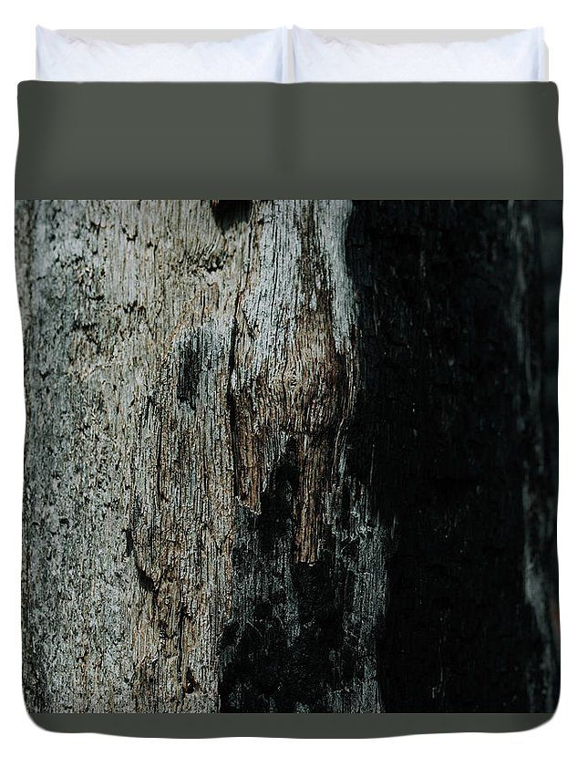 """Seasoned Bark"" Nature photography on a Duvet Cover by Valerie Rosen Photography. Earth tones for your bedroom."