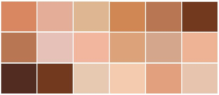 Find Here The Cmyk Of The Skin Color Skin Color Palette Skin Color Human Skin Color