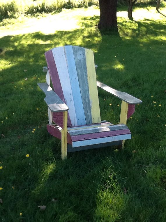 Meubles de Patio extérieur chaise Adirondack de palette Repurposed